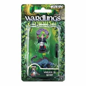 WizKids Wardlings Painted RPG Figures: Boy Warlock & Lizard