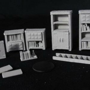 WizKids Deep Cuts Unpainted Miniatures - Archivist Library