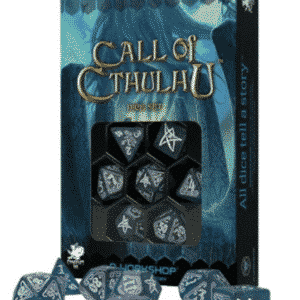 Call of Cthulhu Abyssal & white Dice Set (7)