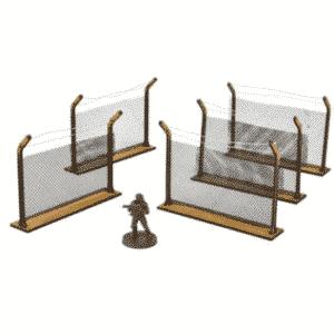 The Walking Dead - Chain-Link Fences MDF Scenery Set